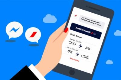 Air France beszállókártyák Messengeren